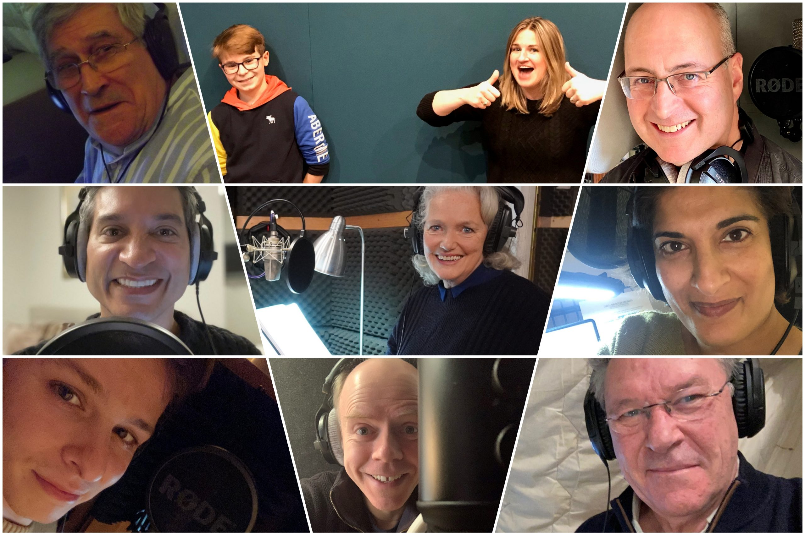 Louise Jameson recording The Box of Delights (c) Big Finish Productions