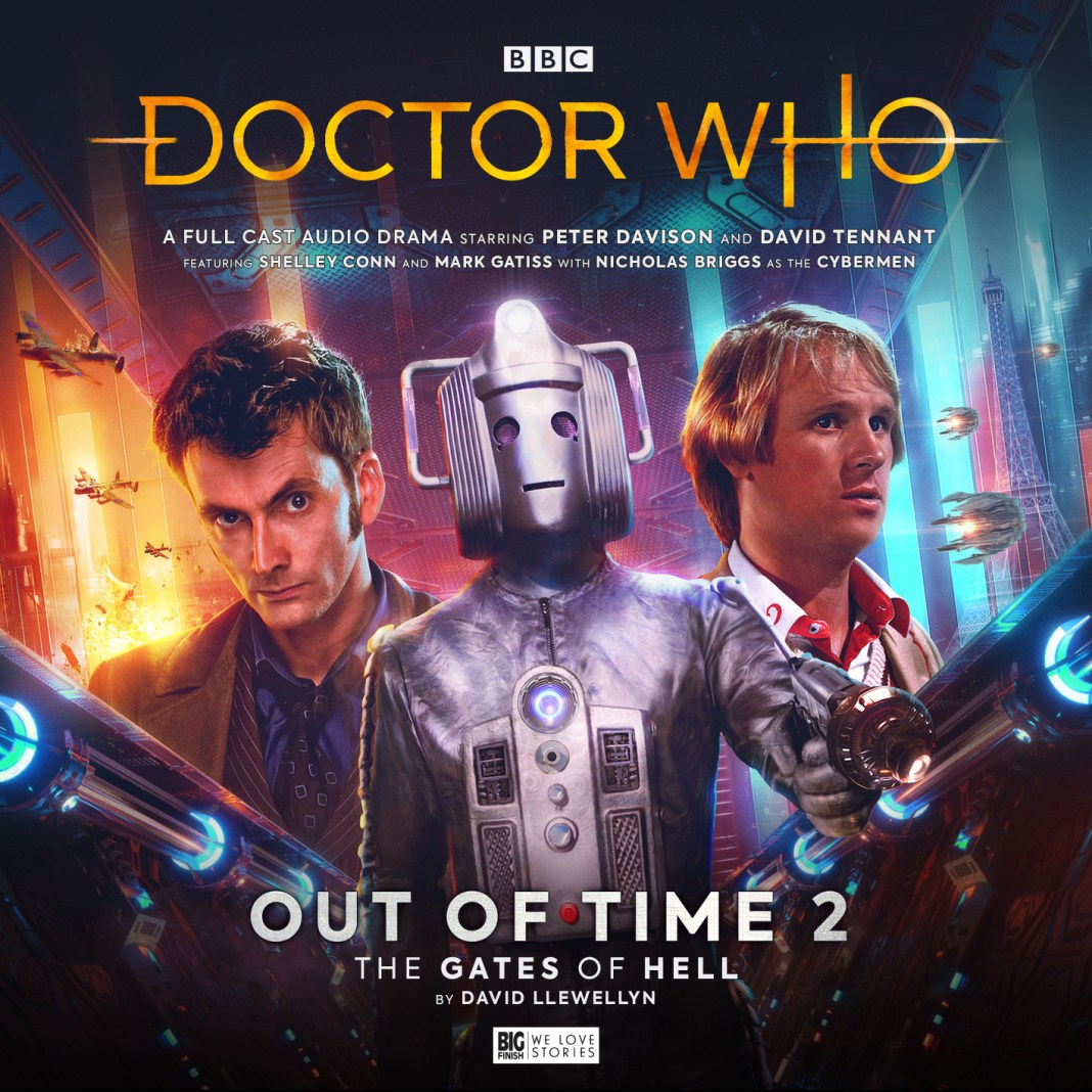 Doctor Who: Out of Time 2: The Gates of Hell. Cover by Tom Webster (c) Big Finish Productions David Tennant Peter Davison Fifth Doctor Tenth Doctor Cybermen
