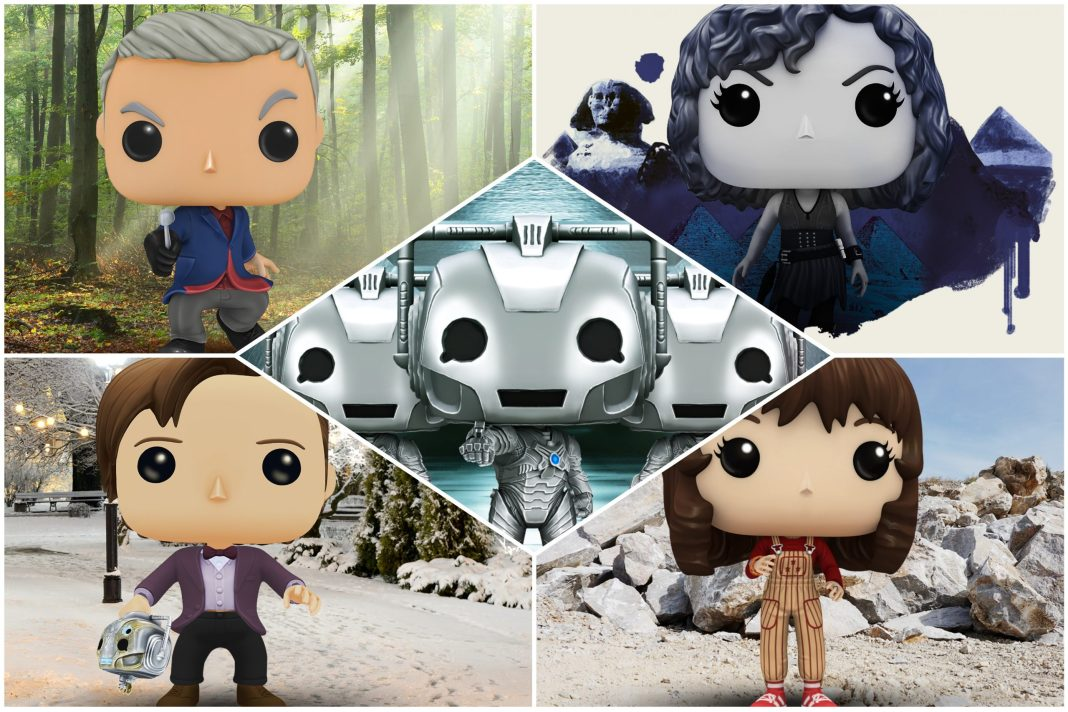 A new wave of Doctor Who digital Funko Pops have arrived at the Blitz mobile game (c) Funko Eleventh Doctor, Twelfth Doctor, Sarah Jane Smith, River Song, Handles, Cyberman, Cybermen, Robot of Sherwood, Time of the Doctor, Hand of Fear, Day of the Moon, The Ruby's Curse