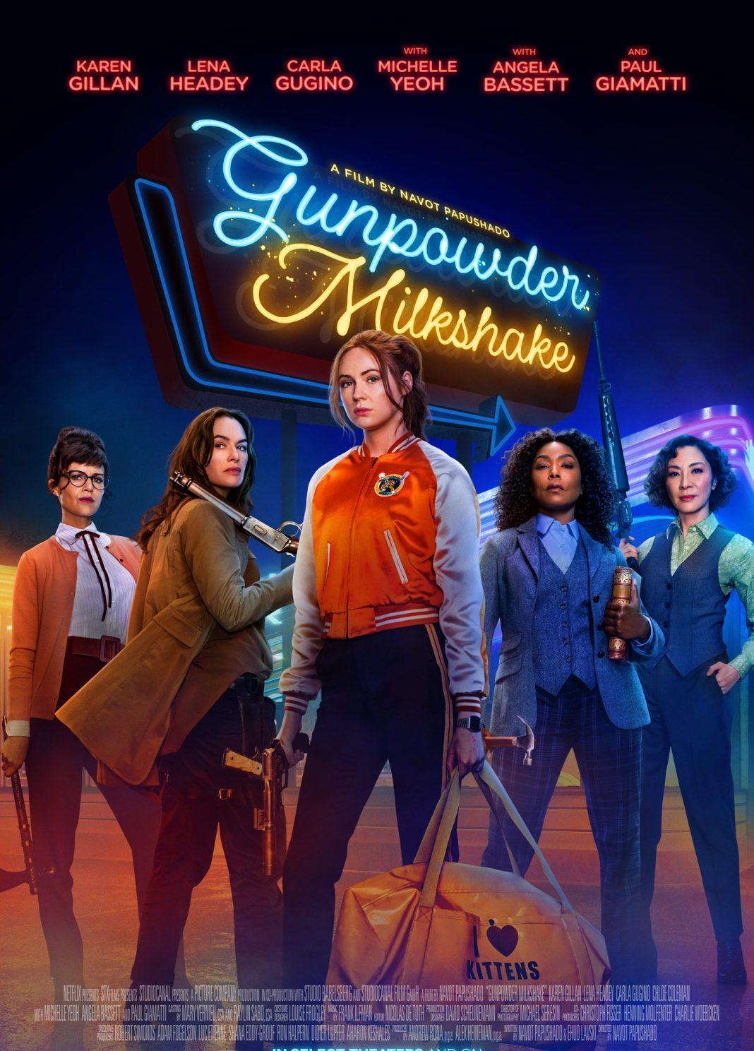 Gunpowder Milkshake, starring Karen Gillan (c) StudioCanal/Netflix Lena Headey, Carla Gugino, Angela Bassett, Michelle Yeoh