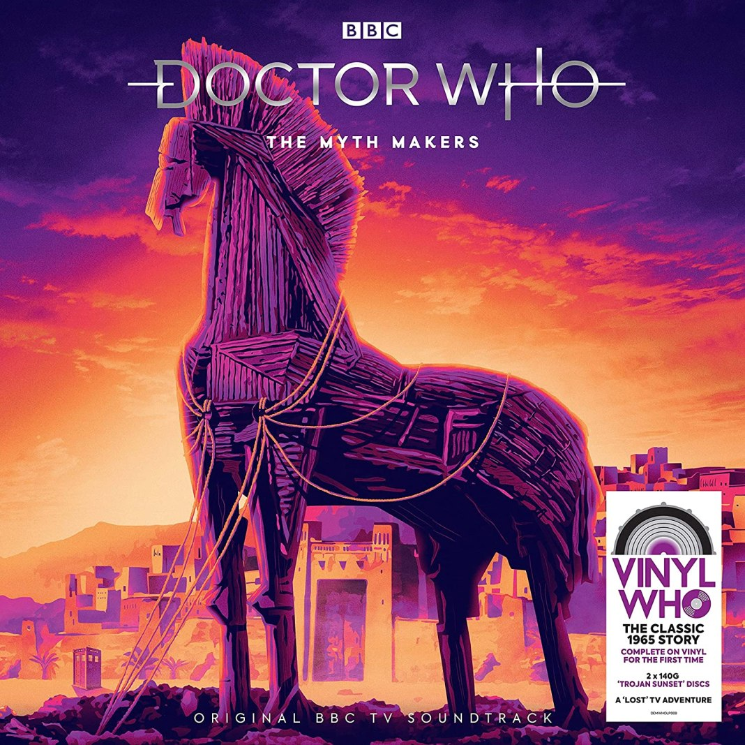 The Myth Makers Who Vinyl release (c) Demon Records Doctor Who Troy First Doctor Peter Purves William HaThe Myth Makers Who Vinyl release (c) Demon Recordsrtnell