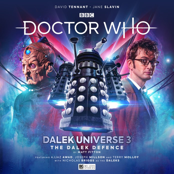 Doctor Who: Dalek Universe 3. Cover by Simon Holub. (c) Big Finish Productions. Tenth Doctor David Tennant Davros Terry Molloy Dalek Defence Dalek Supreme Resurrection of the Daleks