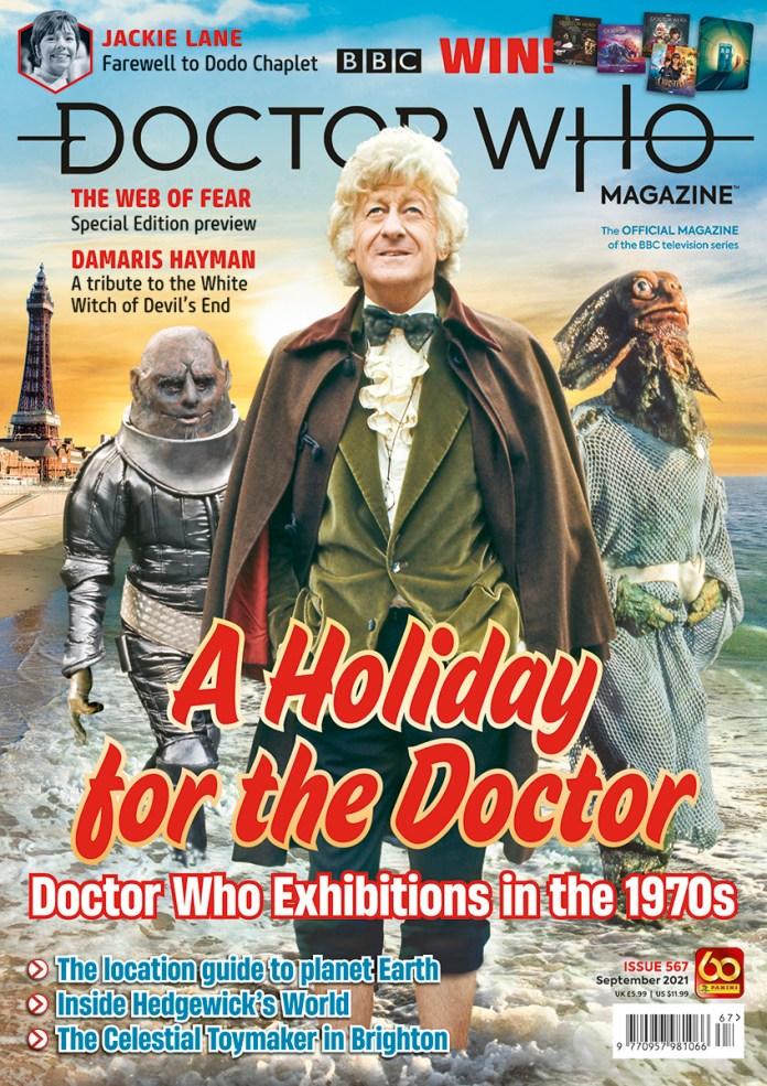 Doctor Who Magazine Issue 567 (c) Panini DWM Doctor Who Exhibitions Blackpool Third Doctor Jon Pertwee Sontaran Sea Devil
