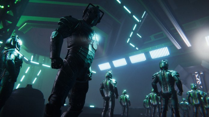 Doctor Who: The Edge of Reality features an army of Cybermen which mix various iconic designs (c) Maze Theory