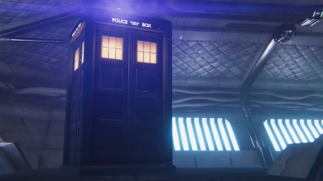 The TARDIS brings you where you need to go in Doctor Who: The Edge of Reality- a Cybermen base (c) Maze Theory Doctor Who: The Edge of Reality Thirteenth Doctor Police Box