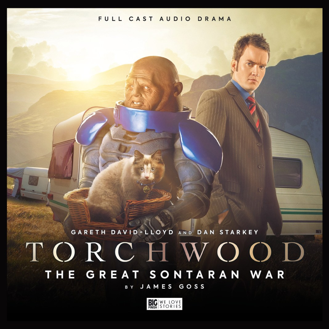 Torchwood: The Great Sontaran War. Cover by Lee Binding (c) Big Finish Productions Ianto Jones Dan Starkey Cat Mumbles Caravan Doctor Who