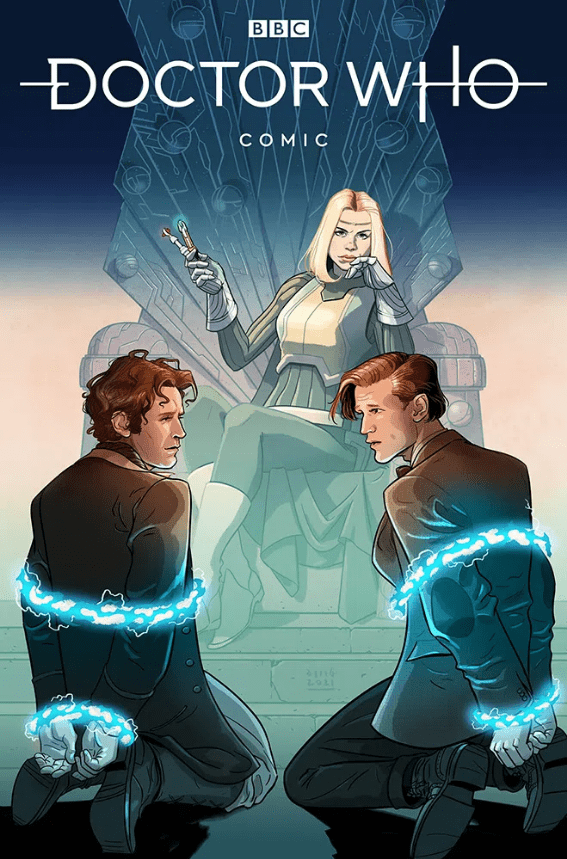 Doctor Who: Empire of the Wolf #1. Cover A by Dave Busian. (c) Titan Comics Eighth Doctor Eleventh Doctor Bad Wolf Rose Tyler