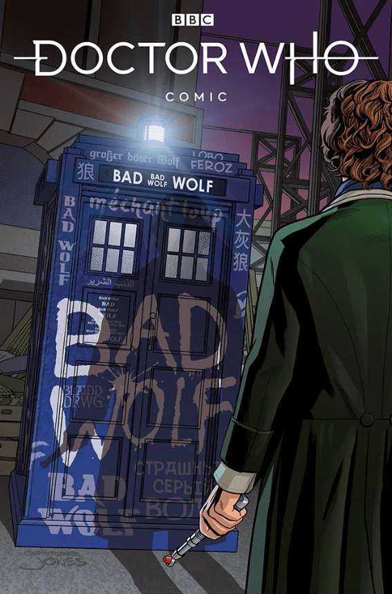 Doctor Who: Empire of the Wolf #1. Cover D by Christopher Jones. (c) Titan Comics Eighth Doctor TARDIS Police Box Bad Wolf