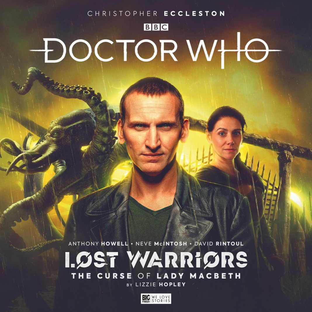 Doctor Who: The Ninth Doctor Adventures - Lost Warriors. Cover by Tom Webster (c) Big Finish Productions Christopher Eccleston Lady MacBeth Neve McIntosh