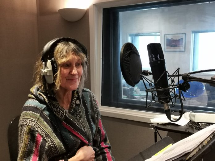 Jan Chappell at the recording of The Clone Masters (c) Big Finish Productions Blake's 7
