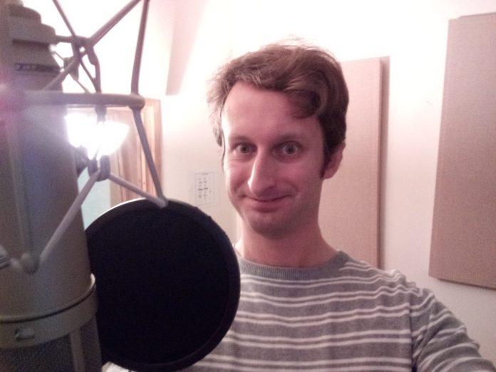 Jonathon Carley (The War Doctor) recording Warbringer at home (c) Big Finish Productions The War Doctor Begins
