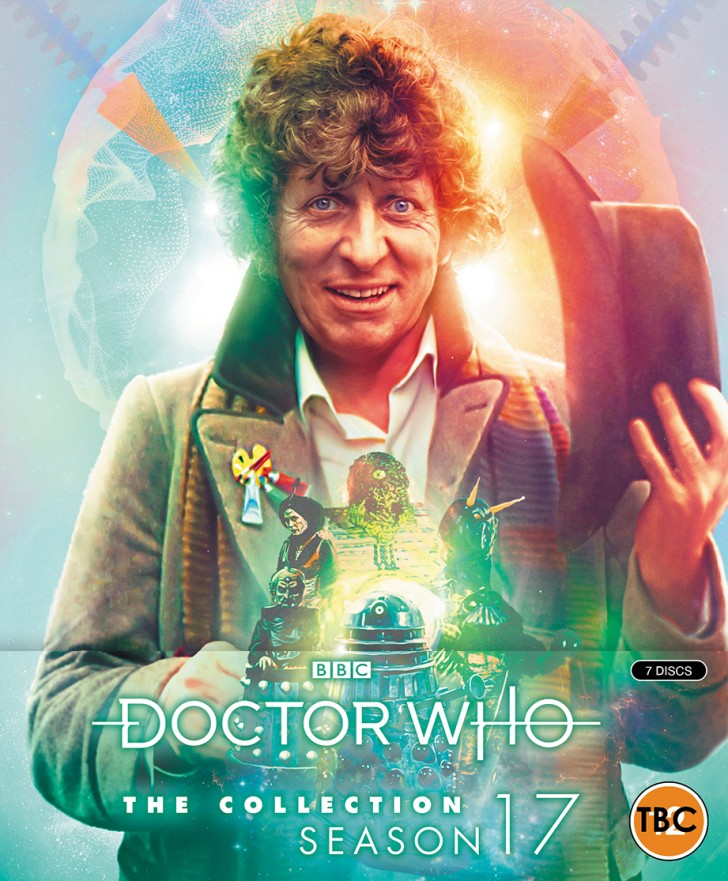 Doctor Who: The Collection - Season 17. Cover by Lee Binding. (c) BBC Studios Fourth Doctor Tom Baker Blu-ray City of Death