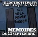Mémoires du 11 septembre en vlog