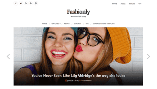 fashionly blogger template