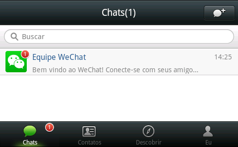 wechat usando no computador pc notebook