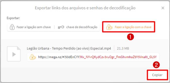 pegar link do mega