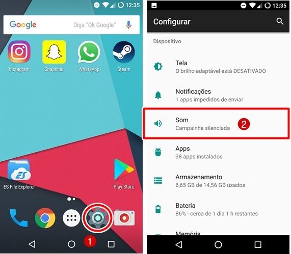 Como remover vibração teclado Android