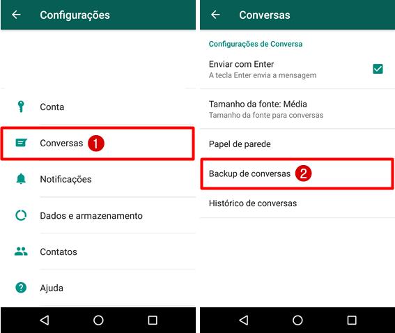 Como parar de fazer backup WhatsApp