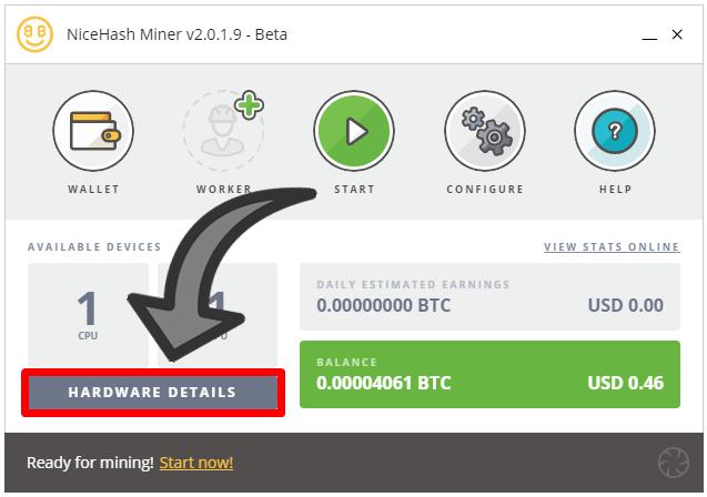 hardware Nicehash Bitcins