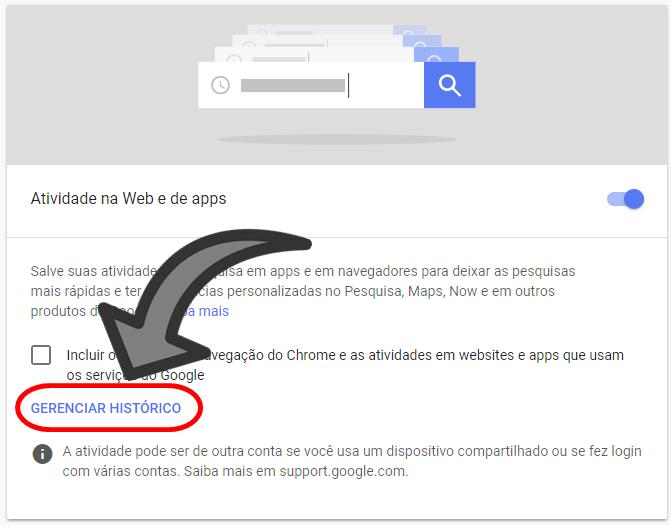 Como Apagar o Historico de Pesquisa do Google 2018