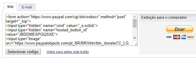 Como configurar o Paypal para receber contribuicoes