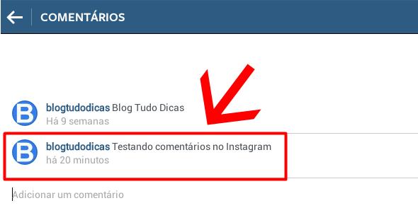 apagando comentario instagram computador
