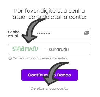 excluir conta badoo 2018