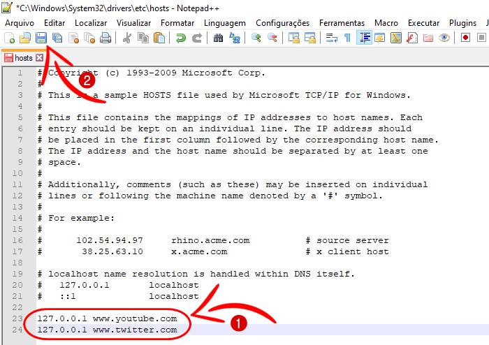 Como bloquear sites improprios no Windows 7