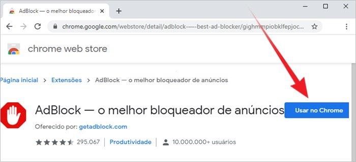 Como remover anúncios do Google Chrome
