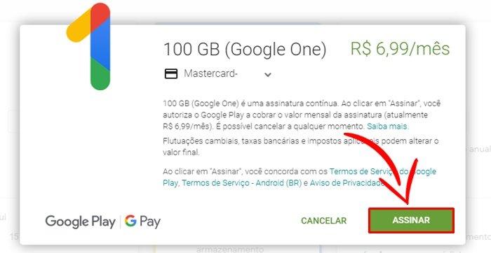 Comprar Espaço na Nuvem Google Drive