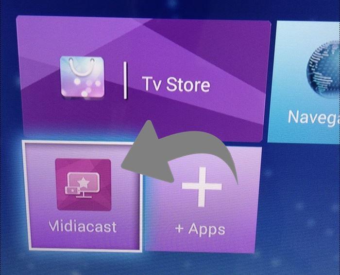 configurar midiacast tv philco espelhamento de tela