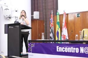 Natane Tamasauskas, da agência Imagem Corporativa ensina a agregar valor ao blog por meio do Mídia Kit. Foto: Alex Nunes