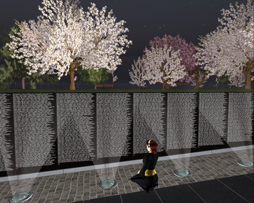 Edward W Crum at the Vietnam Memorial in SL