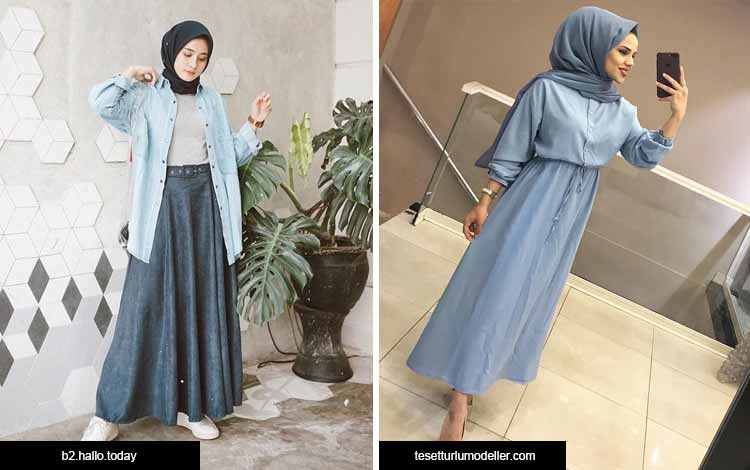Trend hijab 2020 - warna faded denim