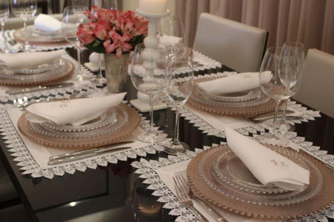 Mesa posta Decorao de mesa de jantar
