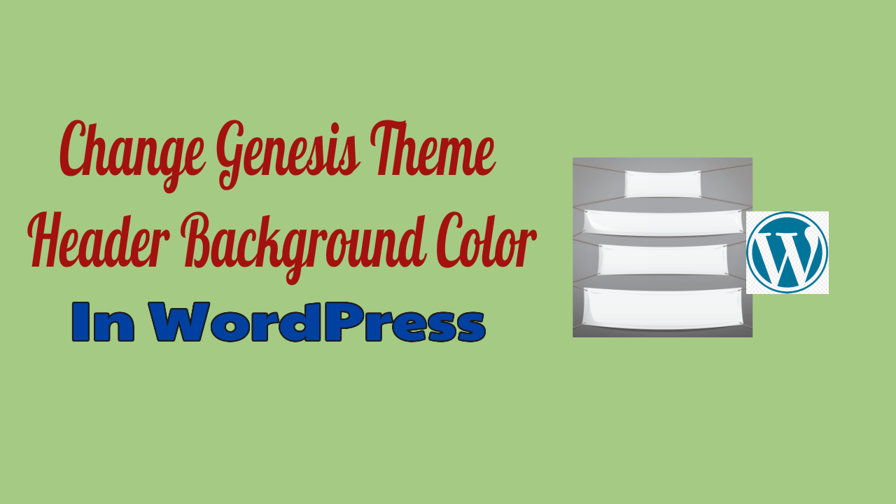 Genesis Theme Header Background Color