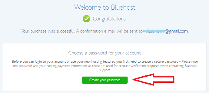 Create pssword bluehost