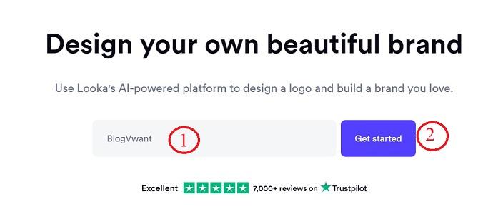 Looka logo search
