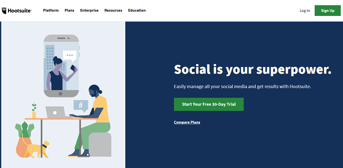 Hootsuite - Best Sprout Social Competitors