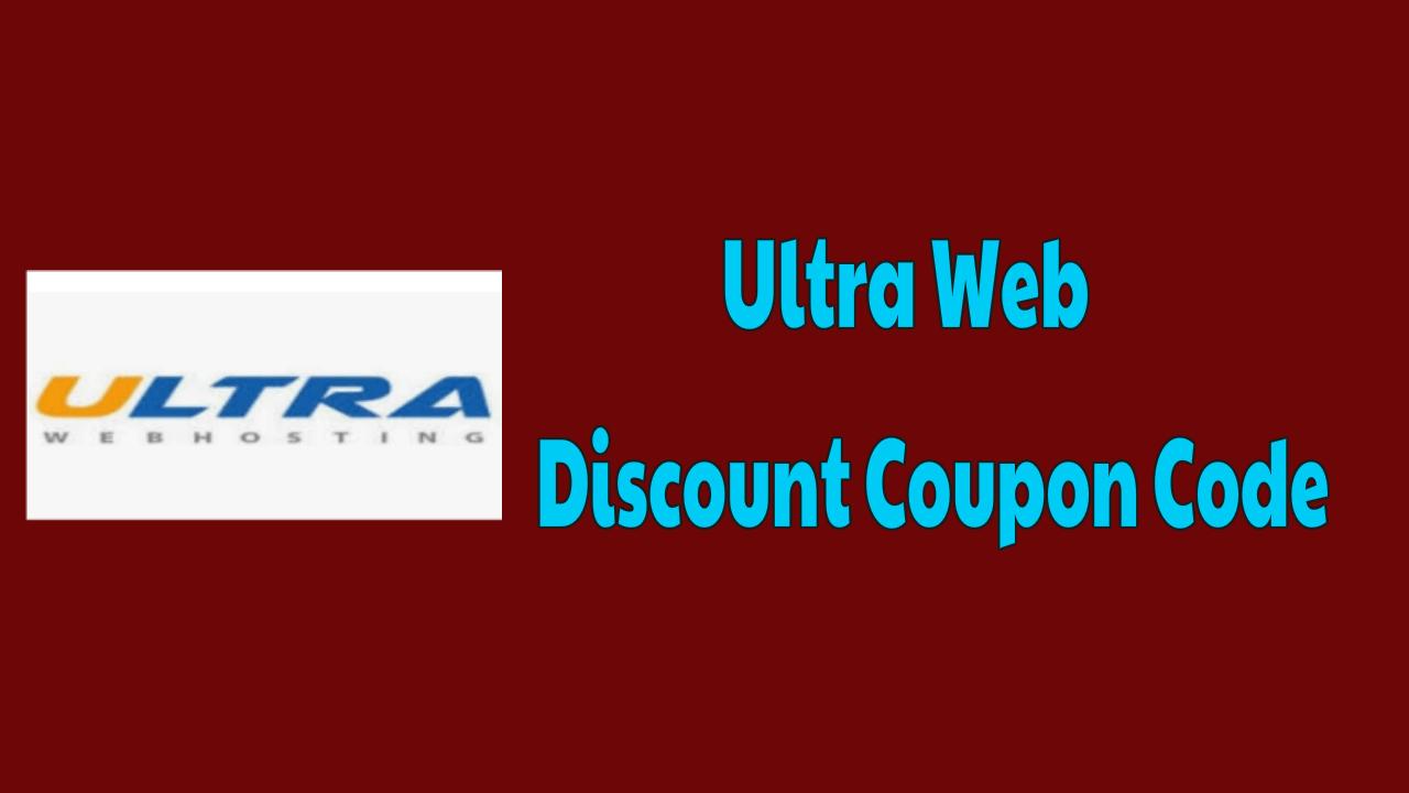UltraWeb Discount Coupon