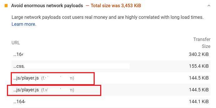 Javascripts impact on network payloads - FID Core web vital fix