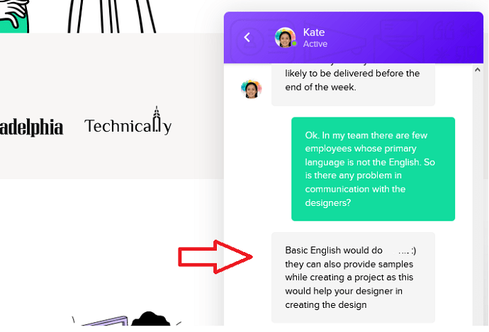 Chat with Penji to Consult About Designers Language For Communication