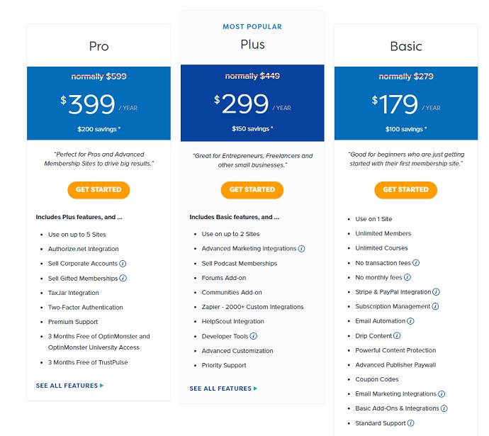 MemberPress Courses Pricing