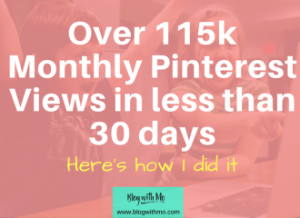 A comprehensive guide on using Pinterest to get loads of traffic to your blog really quickly. These are the steps I used to grow my Pinterest monthly views by 10,000 views each day. It includes a manual pinning strategy too.