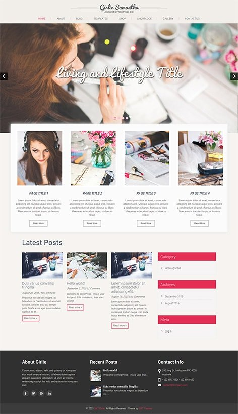 free feminine wordpress theme