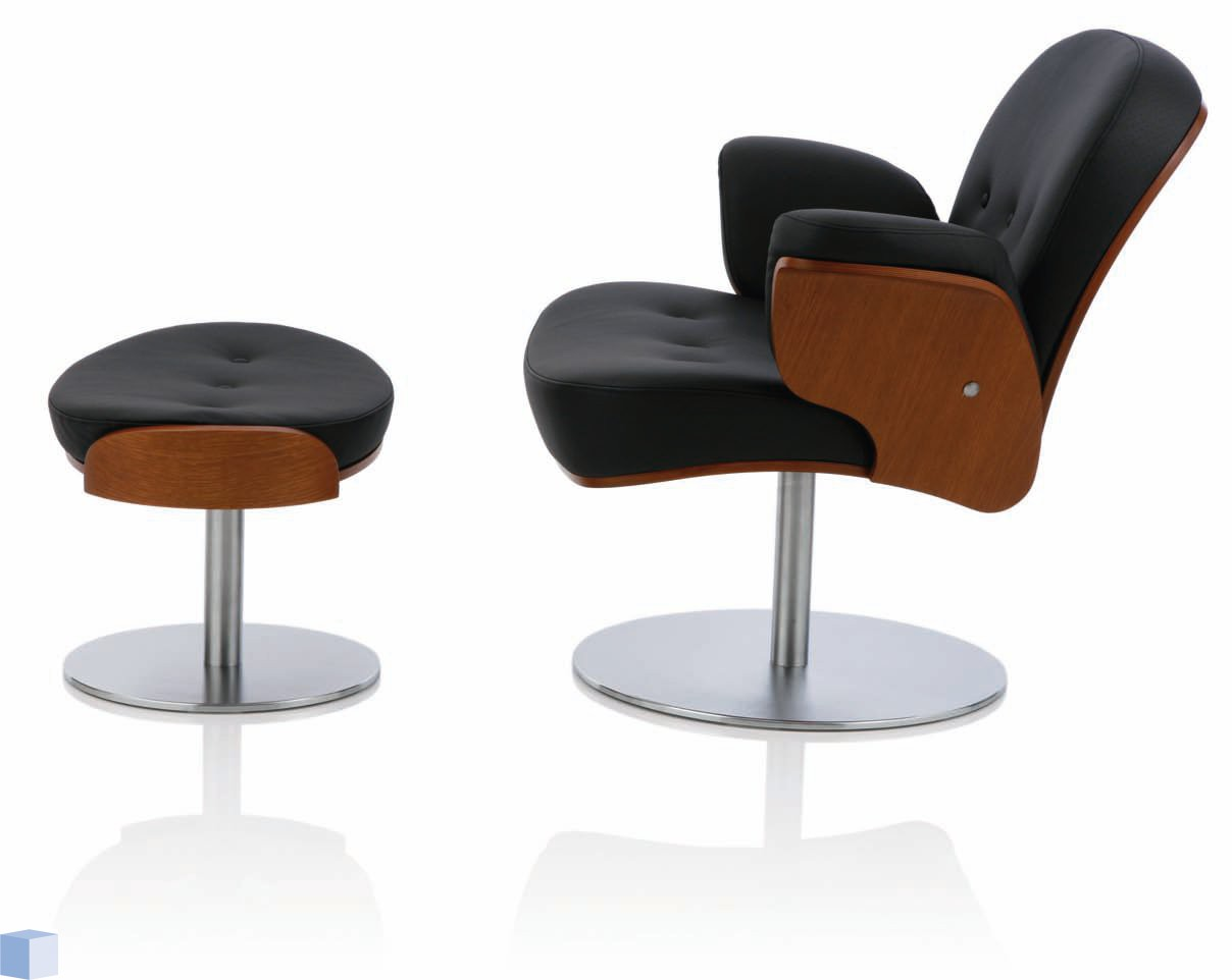 kohl lounge chair met voetenbank office depot hardwood floor mat köhl fauteuil set artiso hocker