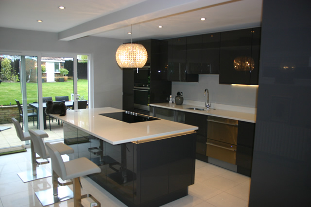 led strip lights in kitchen tin backsplash for case study wallington, surrey - blok designs ltd