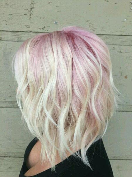 46 Short Blonde Pink Hair Color  Blonde Hairstyles 2017