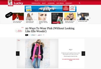 Lucky | 20 Ways To Wear Pink