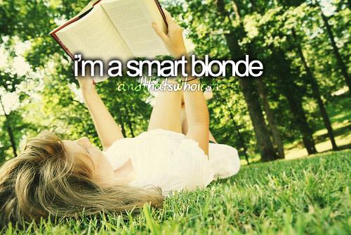 i'm a smart blonde